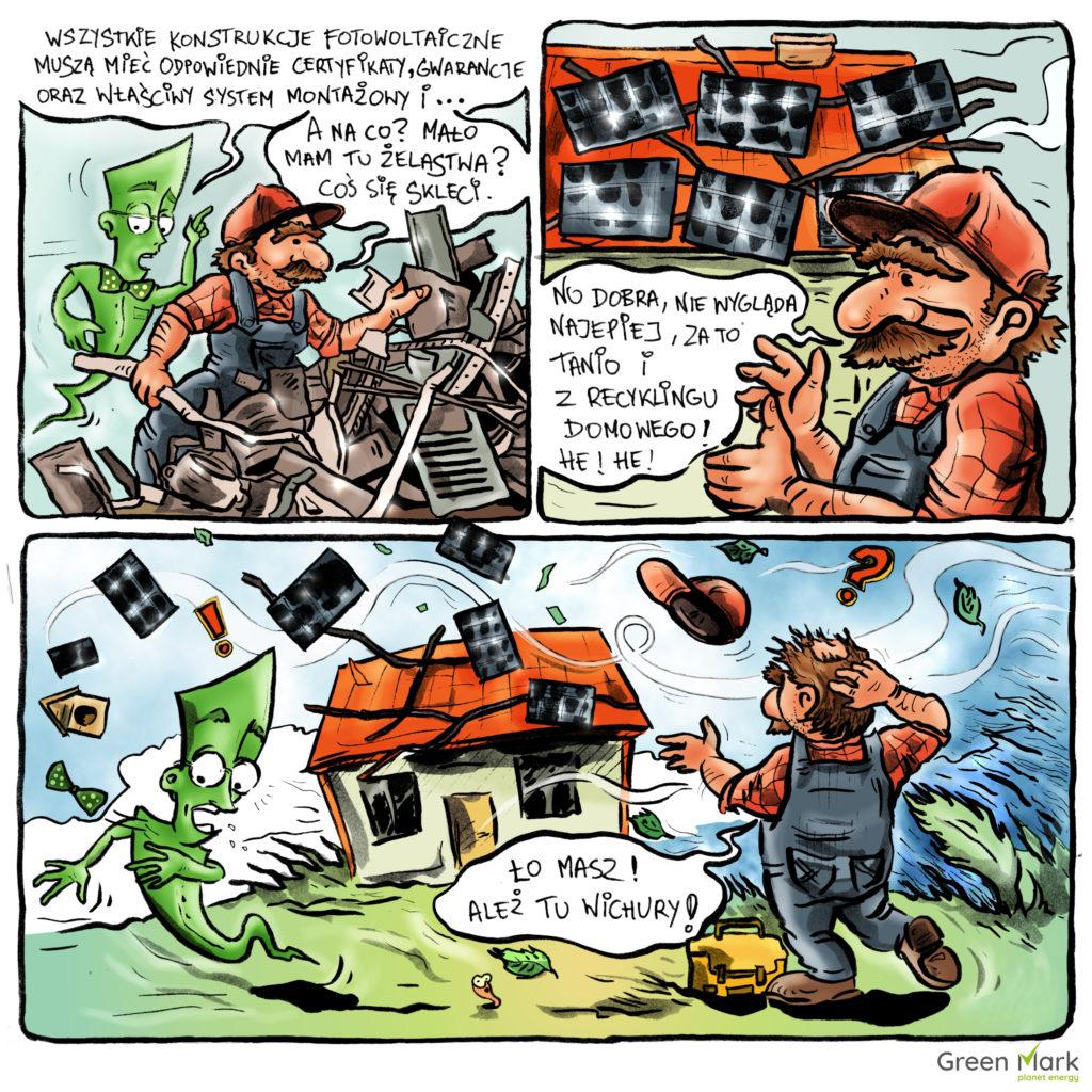 gwarancje instalacji fotowoltaicznej komiks