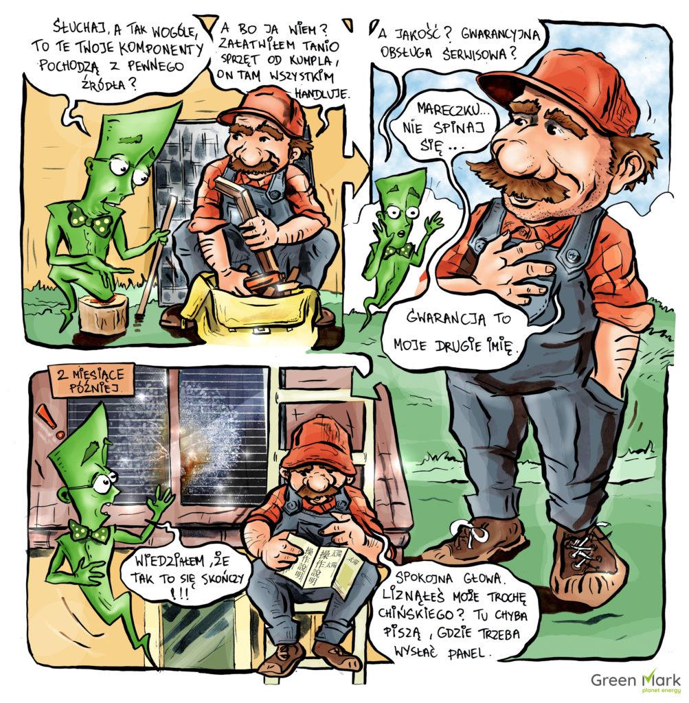 komiksy o fotowoltaice