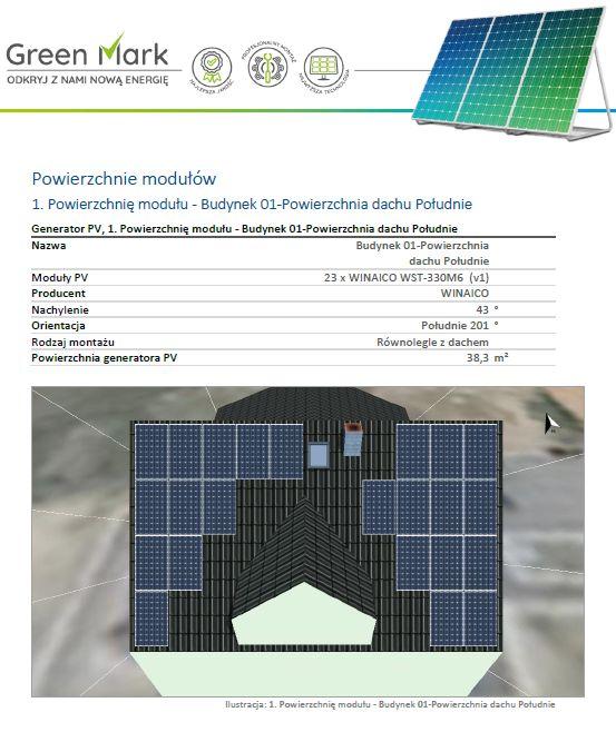 projekt instalacji fotowoltaicznej PV SOL